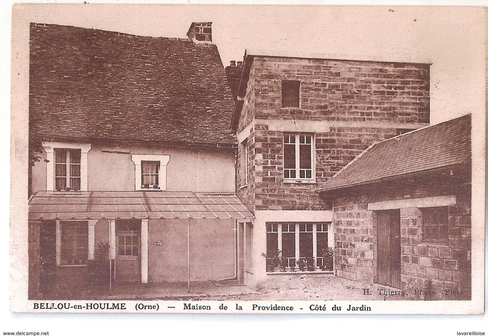 CPA 61 BELLOU EN HOULME MAISON DE LA PROVIDENCE COTE DU JARDIN TRES RARE BELE CARTE !! - France