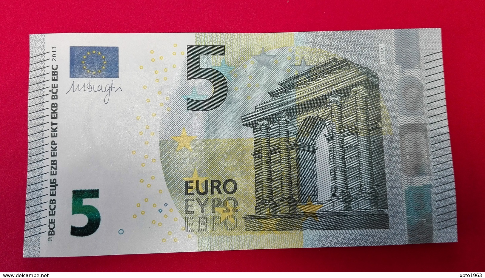 5 EURO M004 A1 PORTUGAL M004A1 - Serial Number: MA1850281562 - UNC FDS NEUF - EURO