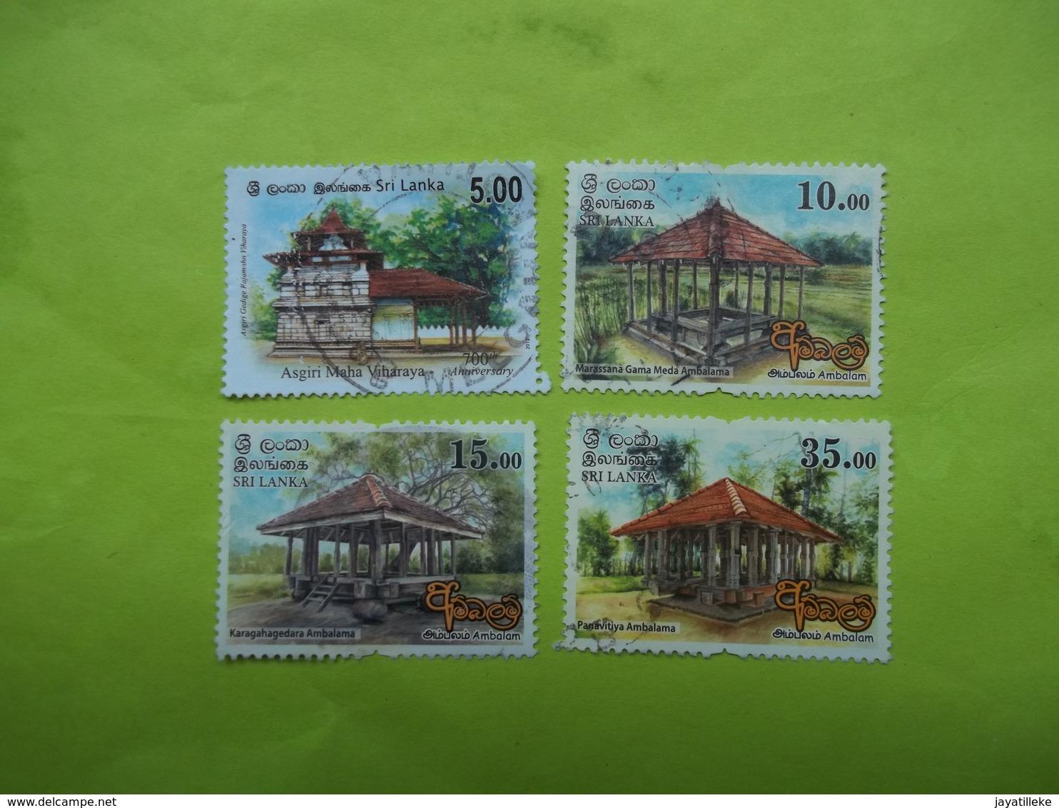 SRI LANKA (CEYLON)  - AMBALAM 2018 FULL SET USED. - Sri Lanka (Ceylon) (1948-...)