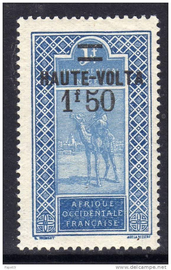 Haute Volta  N ° 37 XX  1 F. 50 Sur 1 F. Bleu Et Outremer Sans Charnière, TB - Obervolta (1920-1932)