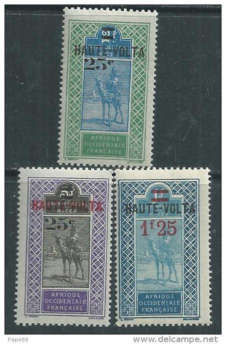 Haute Volta  N ° 33 / 34 + 36  XX  Les 3  Valeurs Surchargées   Sans Charnière  TB - Obervolta (1920-1932)
