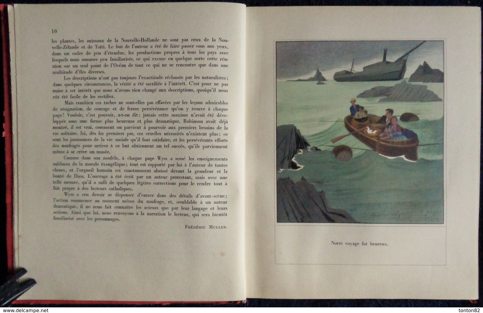 Robert Wyss - Robinson Suisse - Éditions MAME - ( 1953 ) . - Bücher, Zeitschriften, Comics