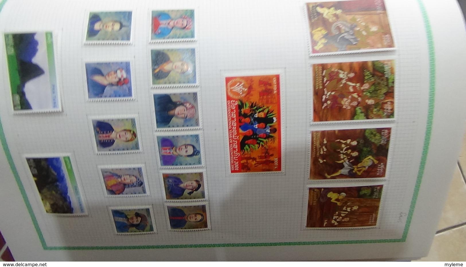 Collection LAOS  (toutes Les Photos N'ont Pas été Prises)  Côte Très Sympa !!! - Timbres