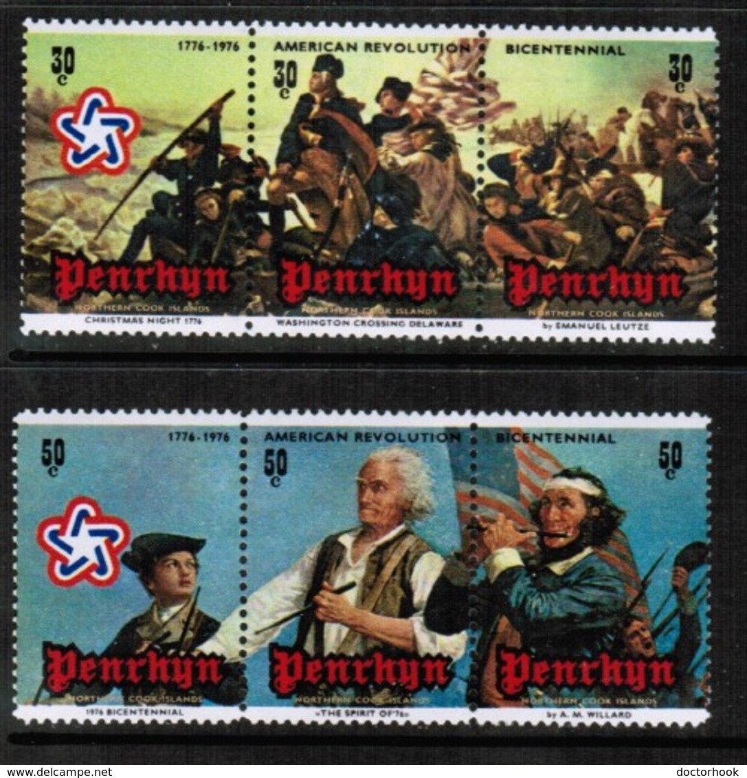 PENRHYN ISLAND  Scott # 79-80** VF MINT NH SE TENNANT STRIPS Of 3 (Stamp Scan # 482) - Penrhyn