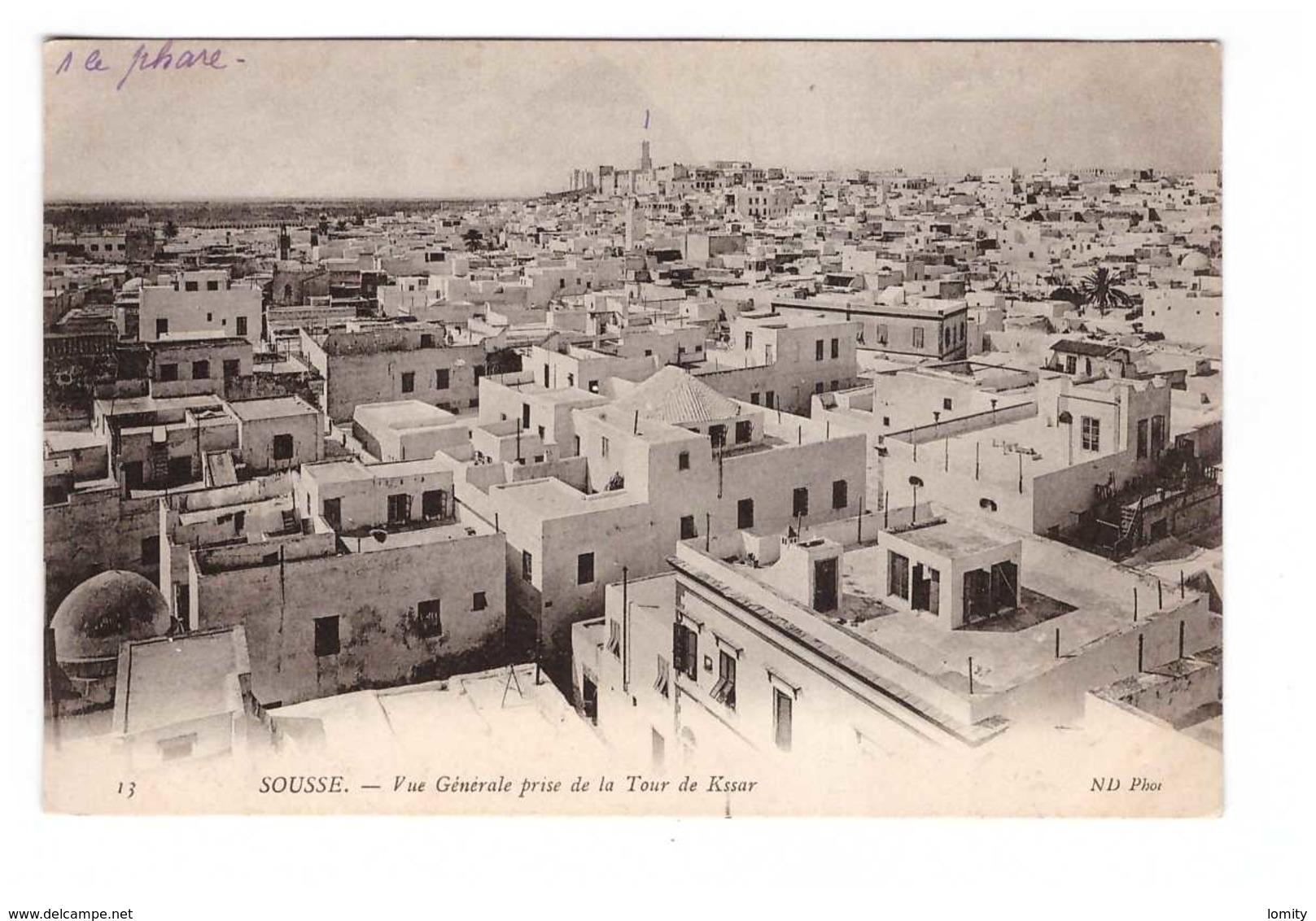 Tunisie Sousse Vue Générale Prise De La Tour De Kssar - Tunisia