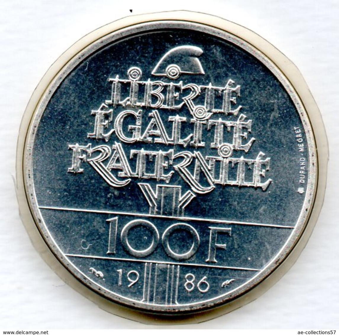 Liberté  -  100 Francs 1986  -  état FDC  - Scellée - N. 100 Franchi
