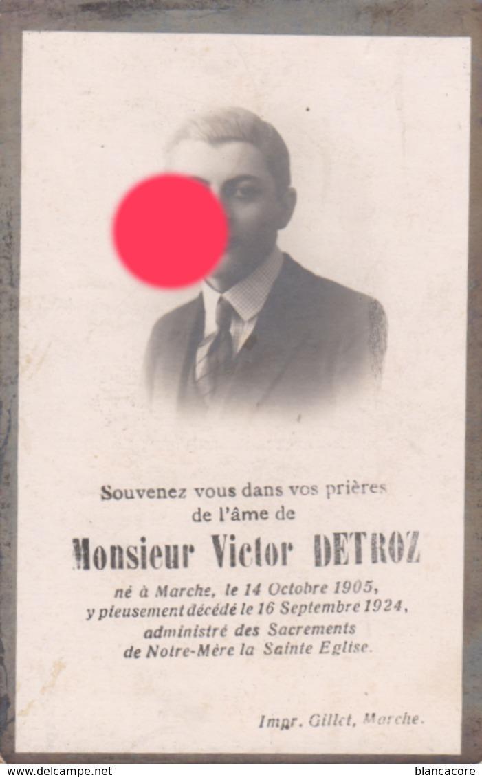 MARCHE VICTOR DETROZ 1905 - 1924 - Obituary Notices
