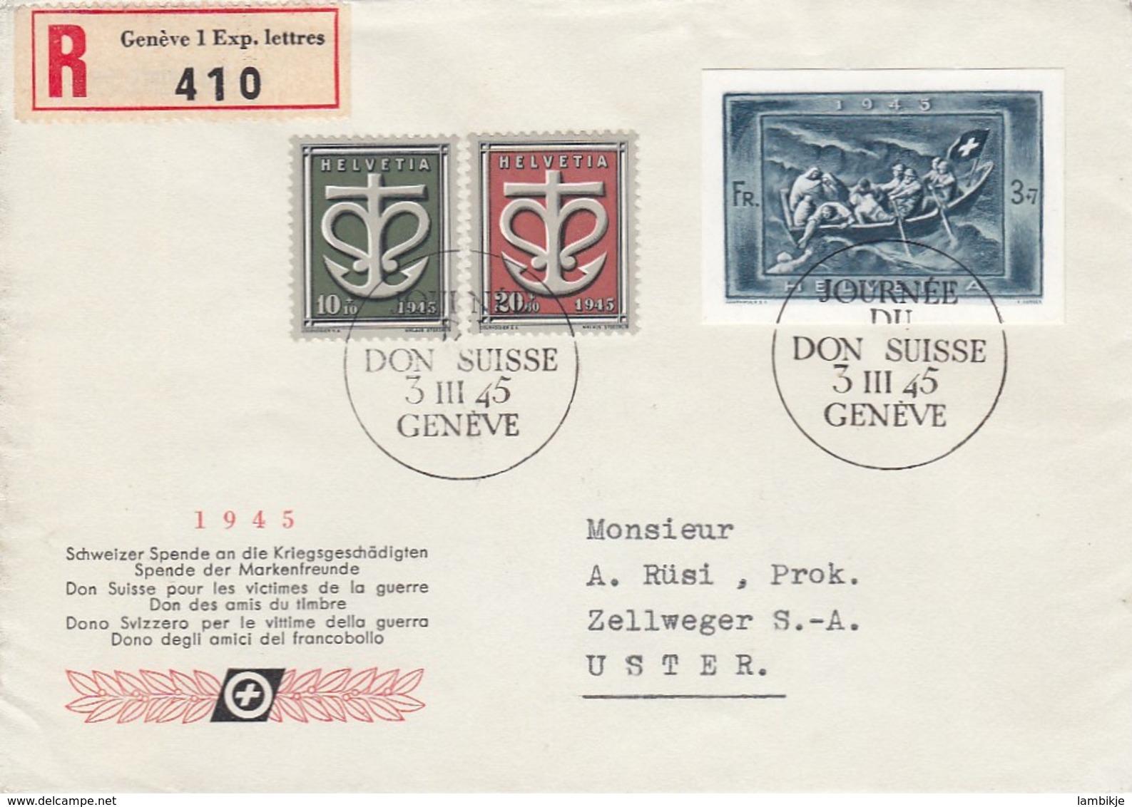 Schweiz R Brief 1945 - Schweiz