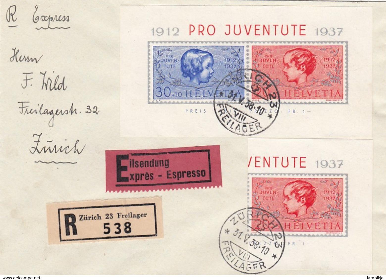 Schweiz R Brief 1938 - Schweiz