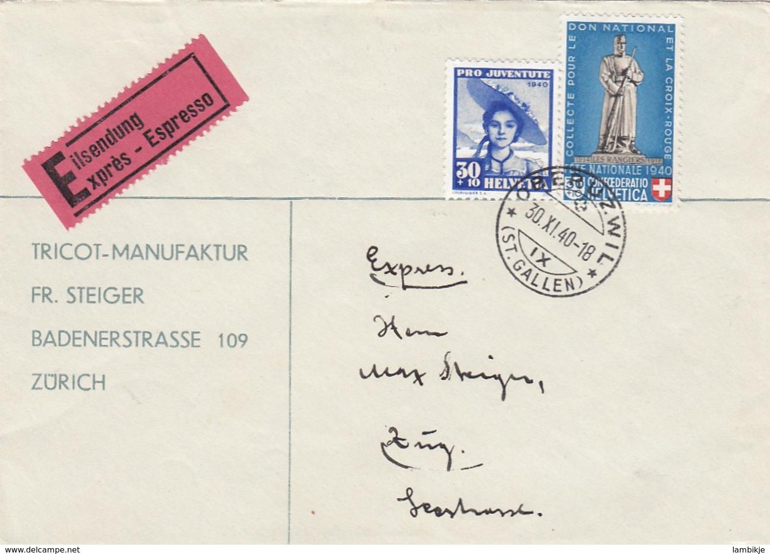 Schweiz Brief 1940 - Schweiz