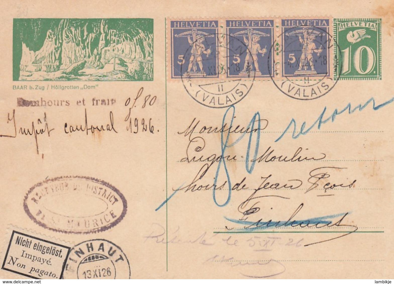 Schweiz Postkarte 1926 - Schweiz