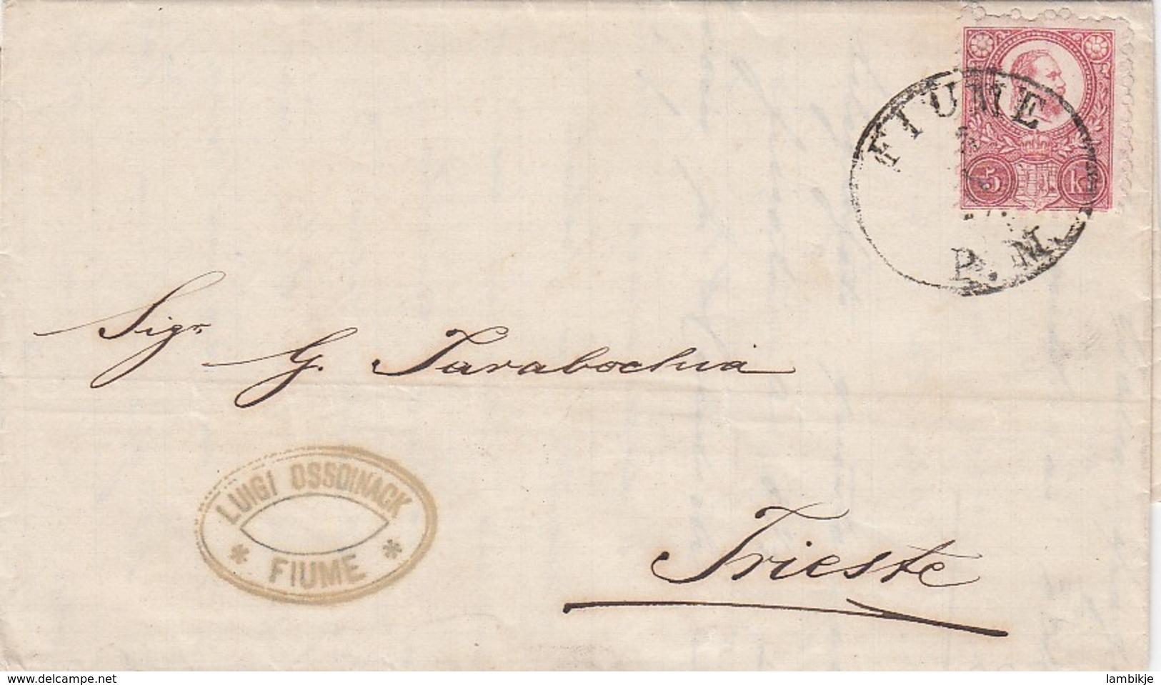 Österreich Brief 1874 Fiume - Briefe U. Dokumente