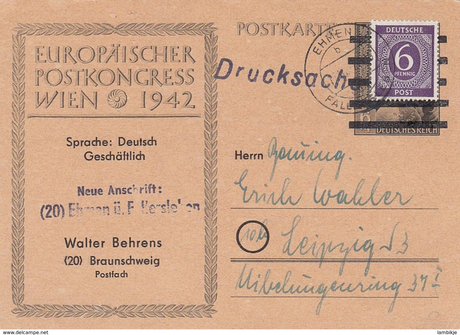 Allierter Besetzung Postkarte 1946 - Deutschland