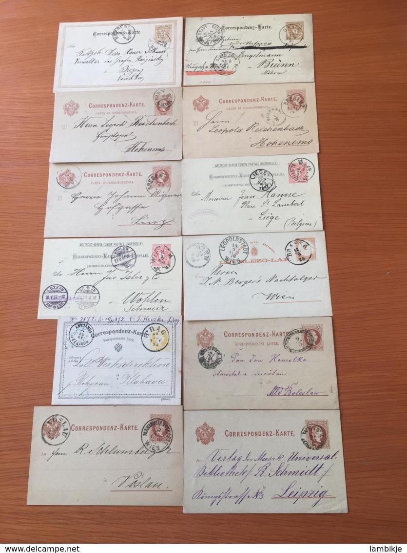 +++ Sammlung Österreich 12 Postkarten  +++ - Briefmarken