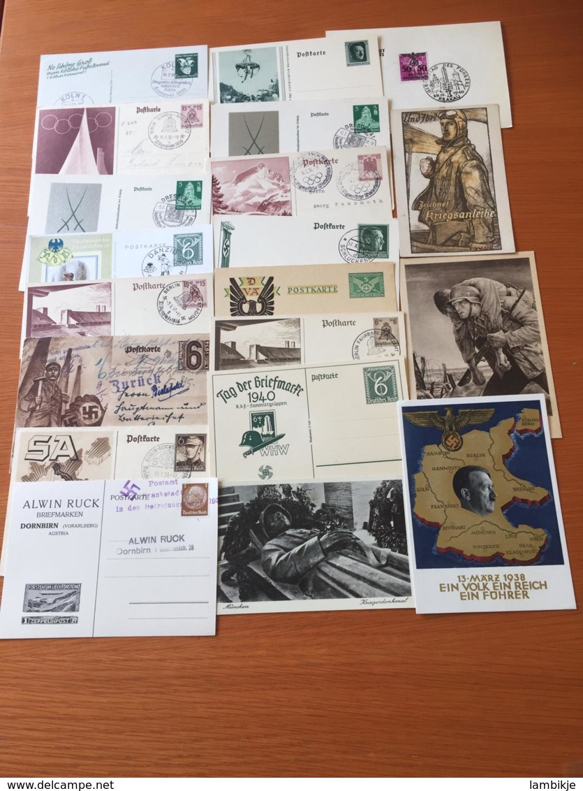+++ Sammlung Deutsches Reich Propaganda/Olympiade/usw 20 Postkarten  +++ - Briefmarken