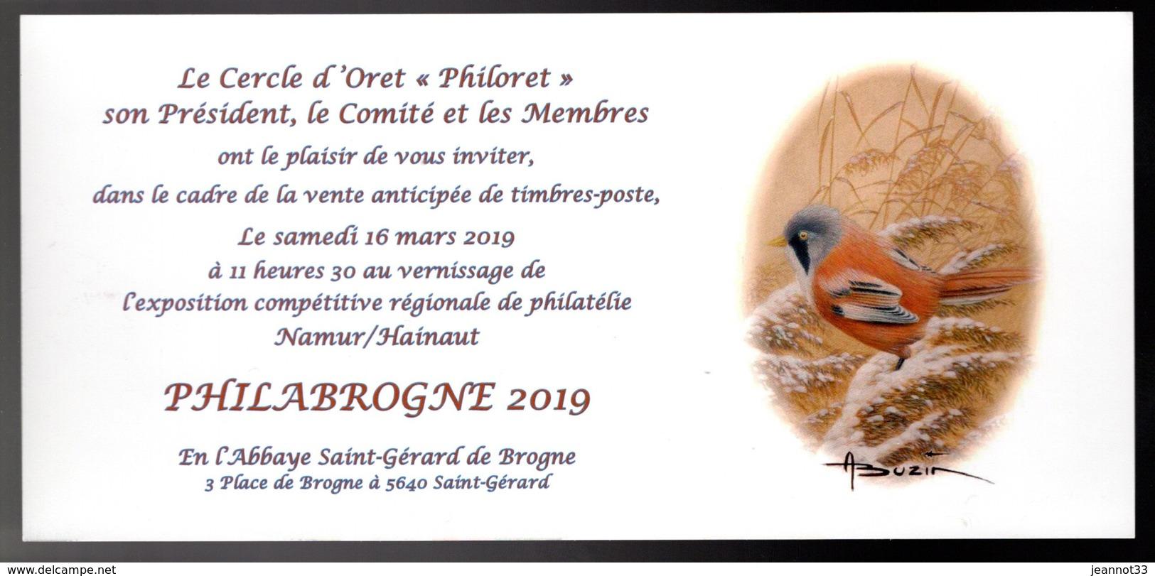 BUZIN - Invitation Pour L'exposition Régionale à BROGNE - 1985-.. Oiseaux (Buzin)