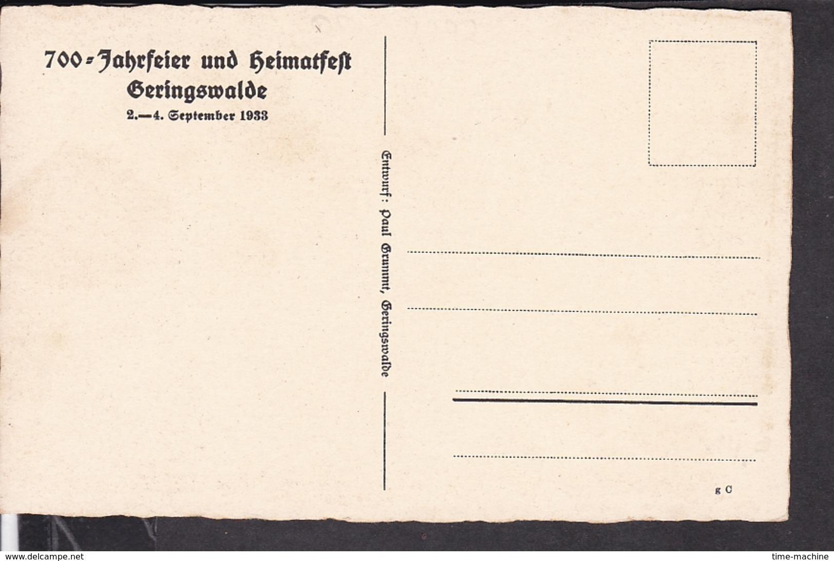 Postkarte 700 Jahrfeier Gehringswalde 1933 - Allemagne