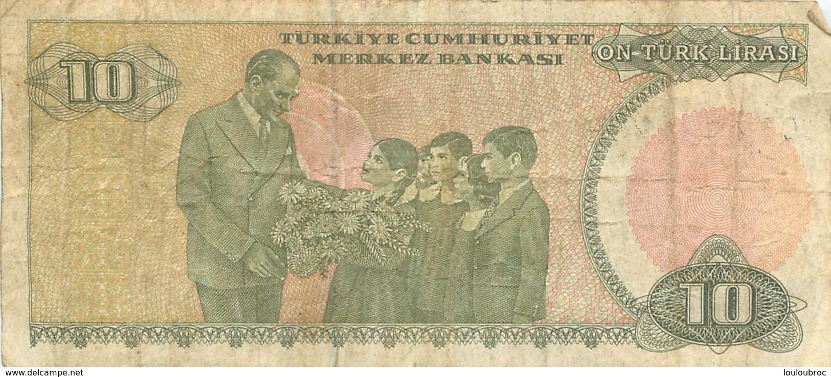 BILLET  TURKIYE 10  ON TURK LIRASI - Türkei