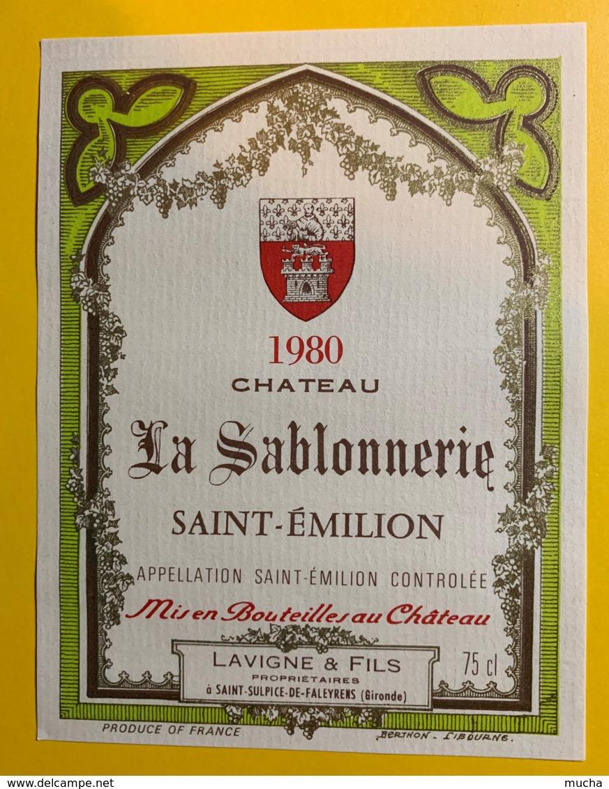 10214 -  Château La Sablonnerie 1980  Saint Emilion - Bordeaux
