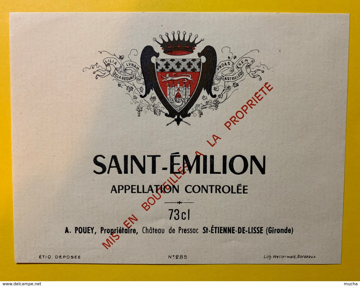 10217 - Saint Emilion  A.Pouey - Bordeaux
