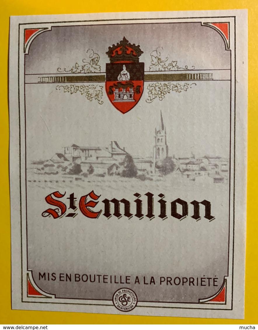 10218 - Saint Emilion Petite étiquette - Bordeaux