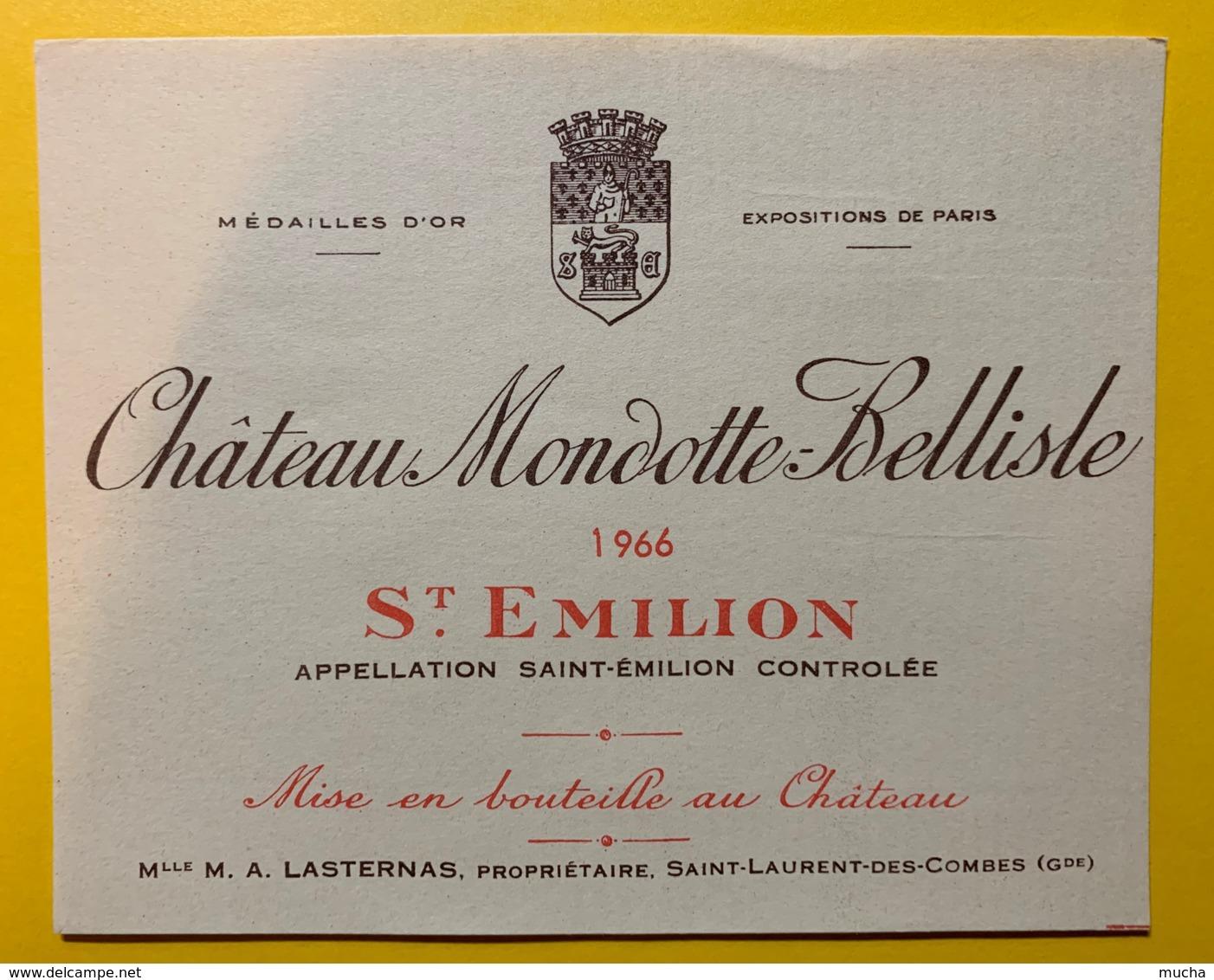 10219 - Château Mondotte-Bellisle 1966  Saint Emilion - Bordeaux