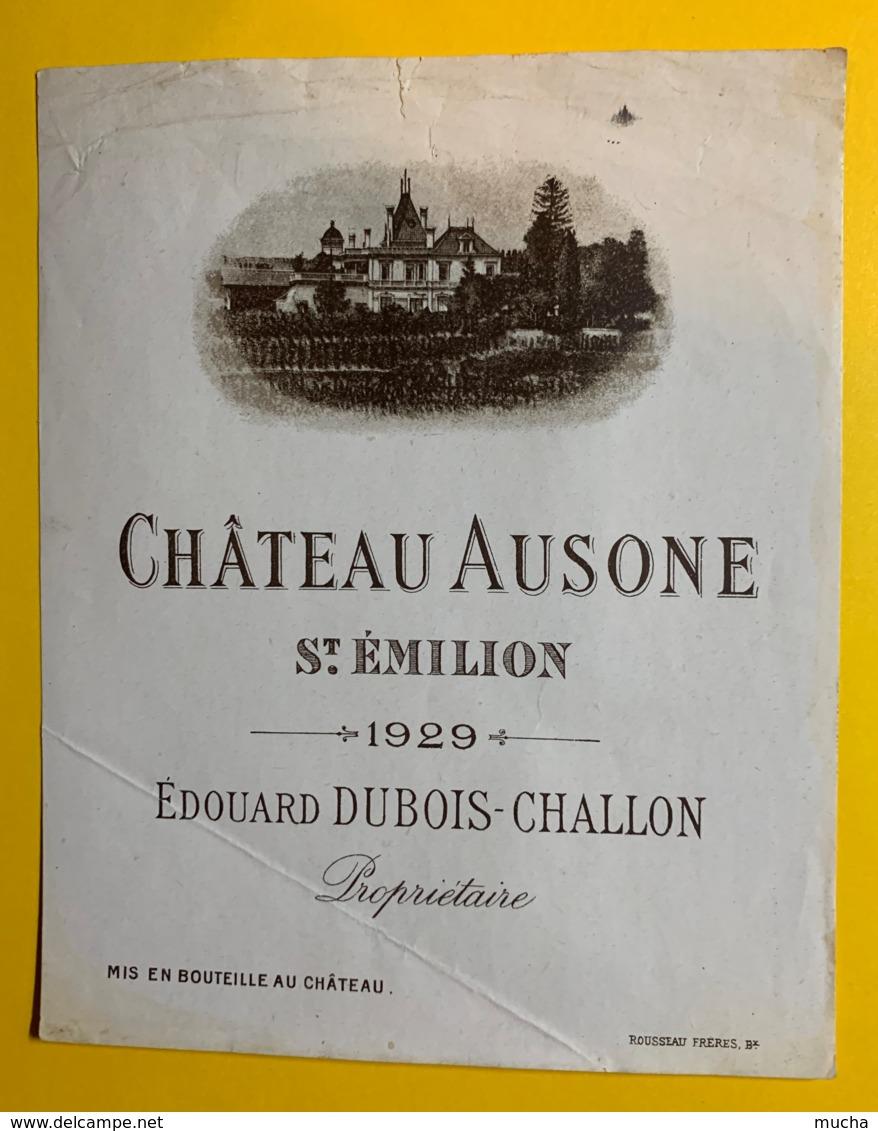 10225 - CHATEAU AUSONE 1929 Saint Emilion  Format 11x13.7 - Bordeaux