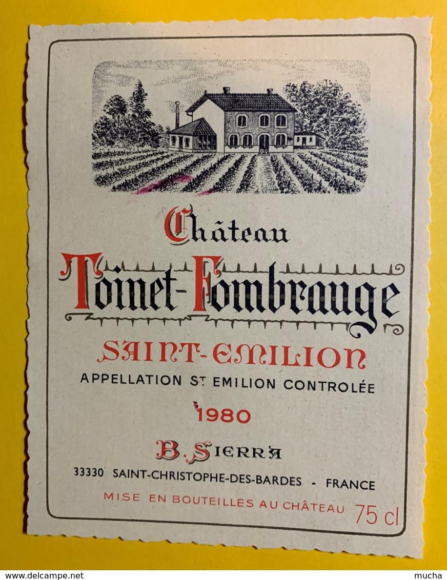 10227 - Château  Toinet-Fombrauge 1980  Saint Emilion - Bordeaux