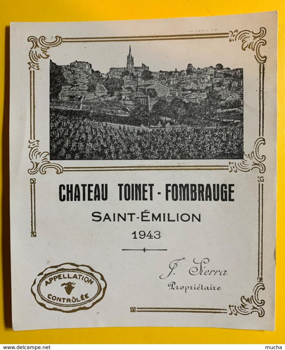 10228 - Château  Toinet-Fombrauge 1943 Saint Emilion - Bordeaux