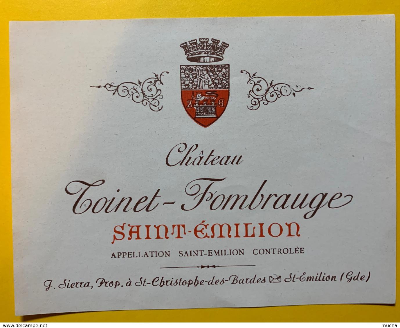 10231 - Château  Toinet-Fombrauge  Saint Emilion - Bordeaux