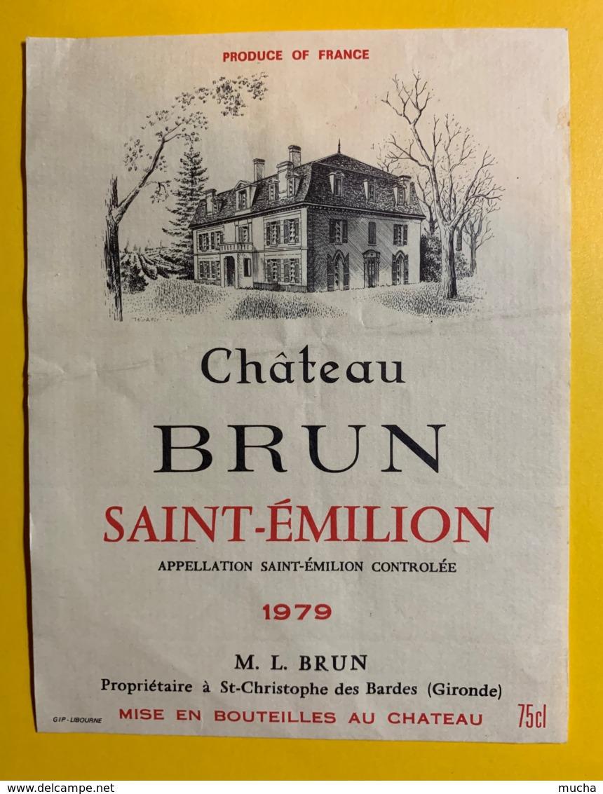 10234 - Château Brun 1979 Saint Emilion - Bordeaux