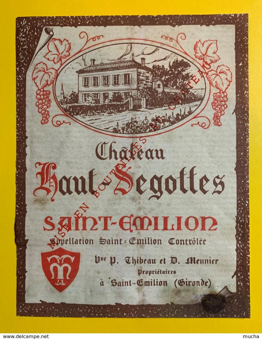 10236 - Château Haut-Segottes  Saint Emilion - Bordeaux