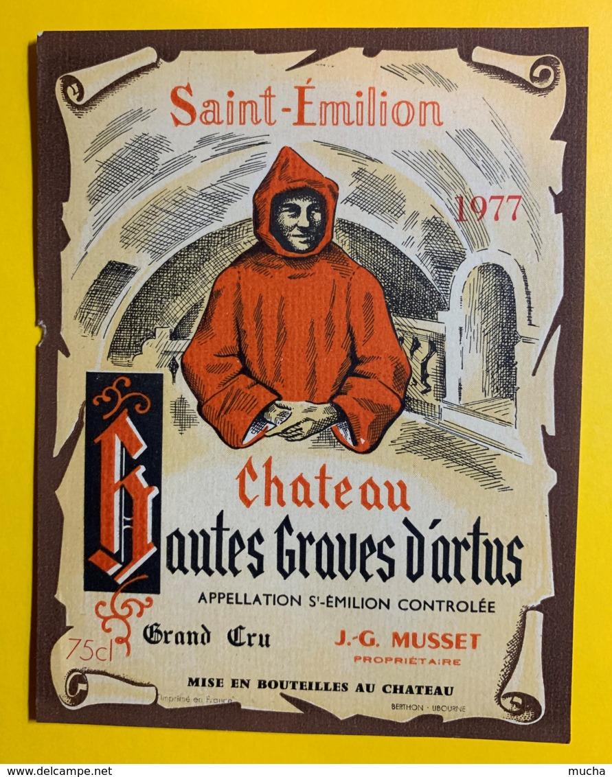 10245 - Château Des Hautes Graves D'artus 1977 Saint Emilion - Bordeaux