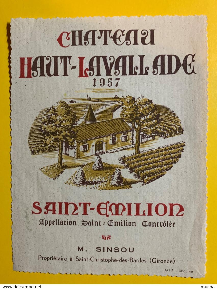 10246 - Château Haut-Lavallade 1957 Saint Emilion - Bordeaux