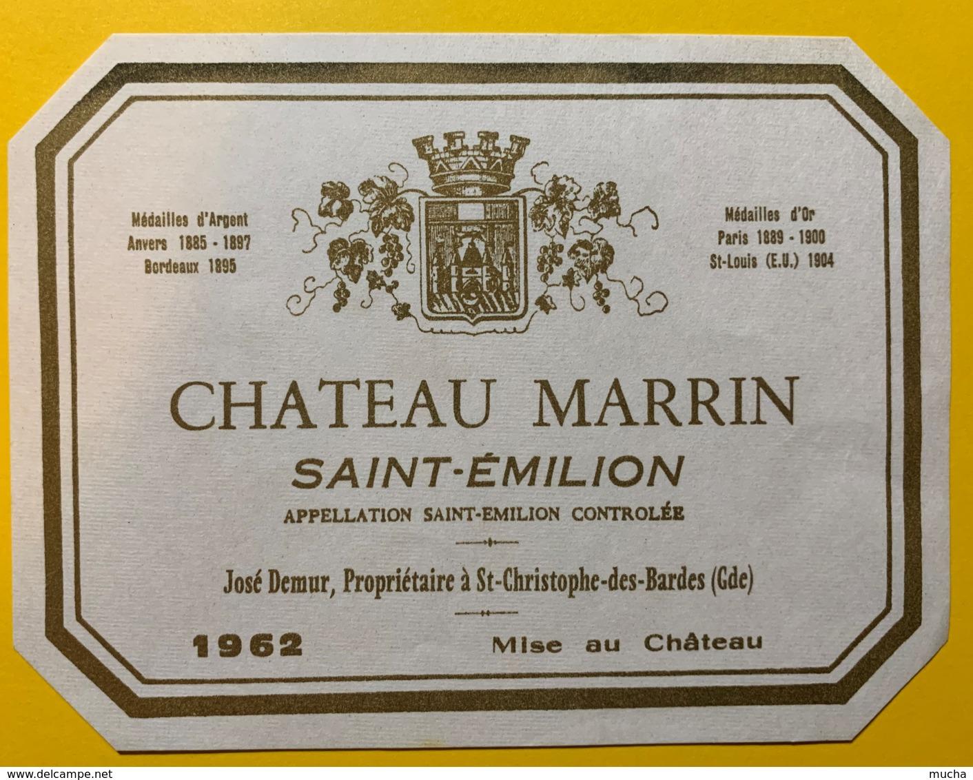 10247 - Château Marrin 1962 Saint Emilion - Bordeaux