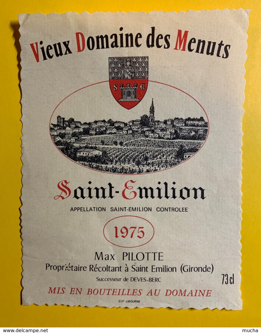 10251-  Vieux Domaine Des Menuts 1975 Saint Emilion - Bordeaux