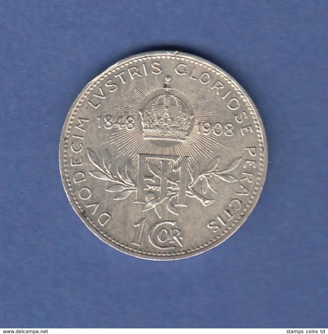 Österreich 1908 Silber-Gedenkmünze 50 Jahre Thronbesteigung Franz Joseph I. - Austria