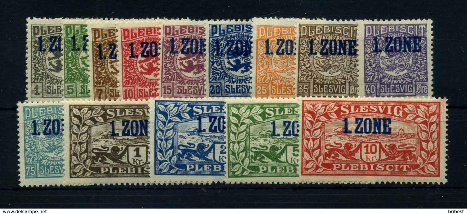 SCHLESWIG 1920 Nr 15-28 Postfrisch (110537) - Deutschland