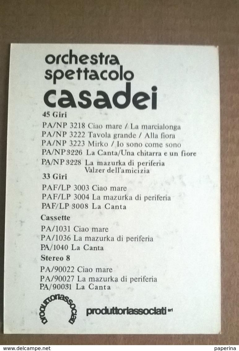 ORCHESTRA SPETTACOLO CASADEI    (84) - Altri Oggetti