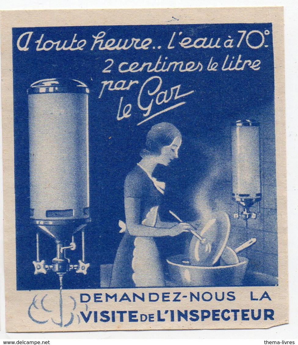 Vignette L'eau à 70° 2 Centimes PAR LE GAZ (PPP18000A) - Publicités