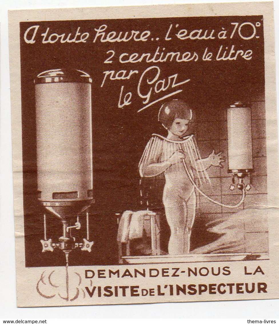 Vignette    : L'eau à 70° 2 Centimes PAR LE GAZ (PPP18000C) - Publicités