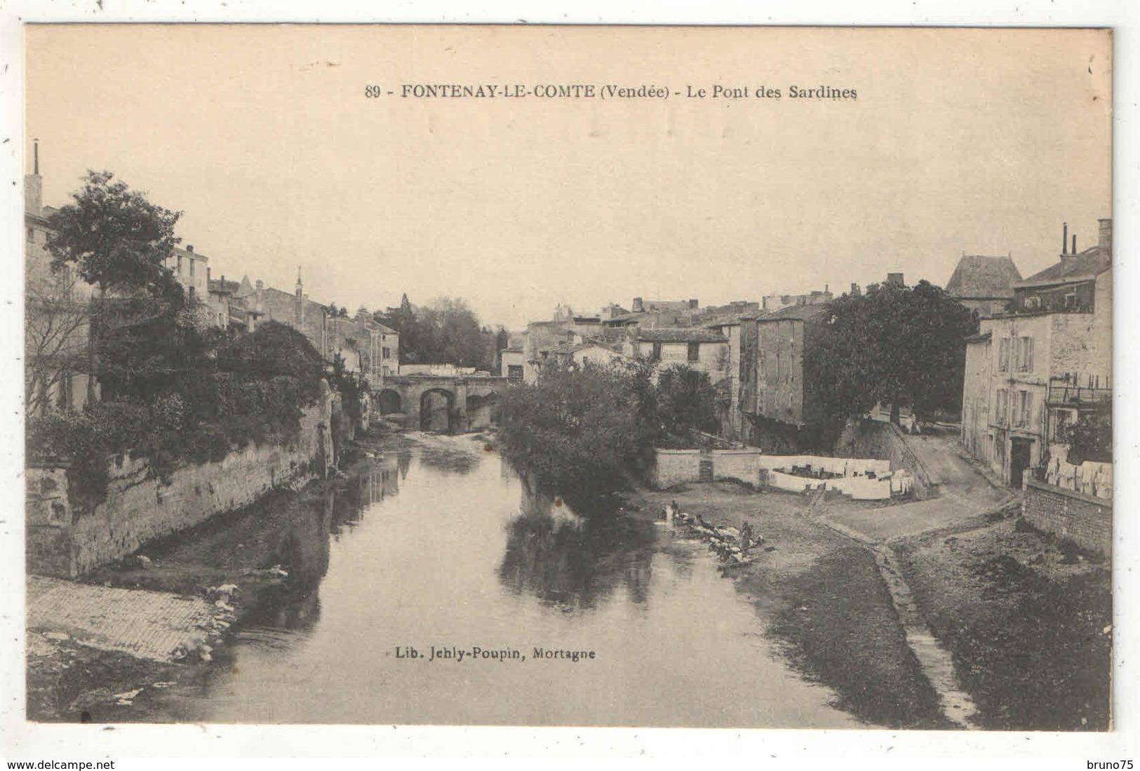 85 - FONTENAY-LE-COMTE - Le Pont Des Sardines - Jehly-Poupin 89 - Fontenay Le Comte