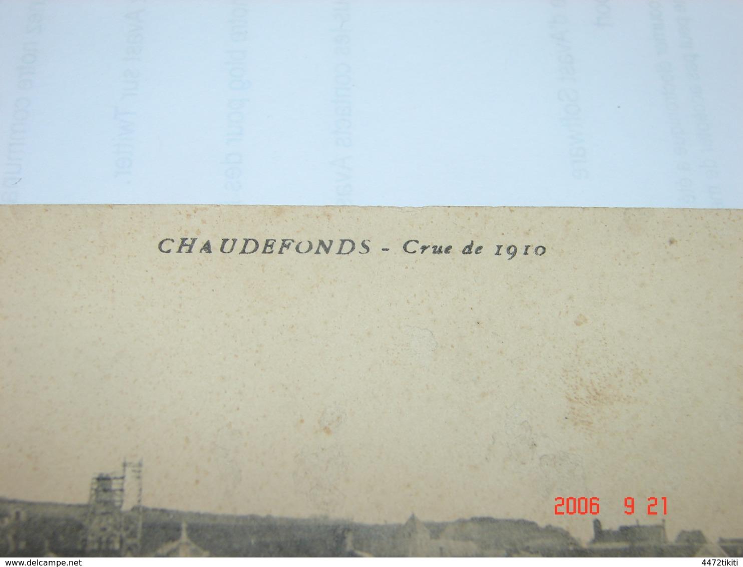 C.P.A.- Chaudefonds (49) - Vue Générale - Crue De 1910 - 1911 - TB (BC60) - France