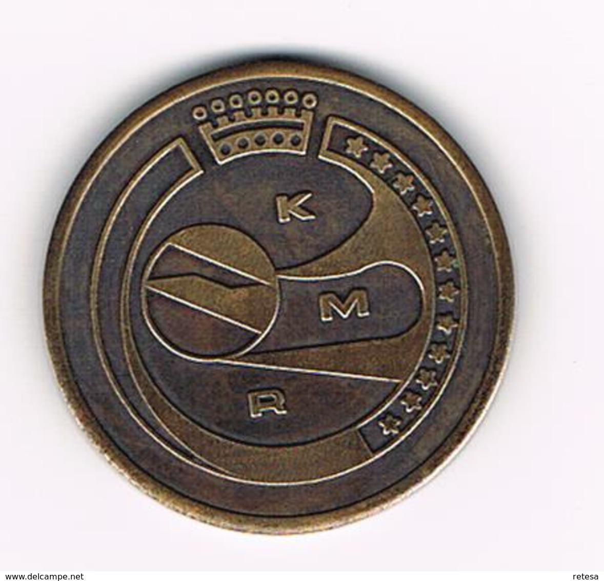 //  GEDENKINGSPENNING  KMR  12 STERREN - Pièces écrasées (Elongated Coins)
