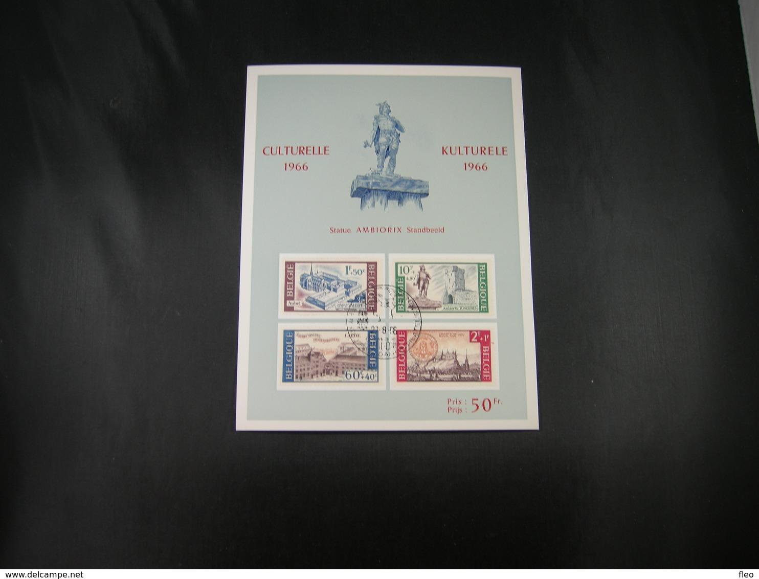 """BELG.1966 1385 1386 1387 & 1388 FDC Philacard ( Antwerpen ) : """" Culturele / Culturelle """" - FDC"""