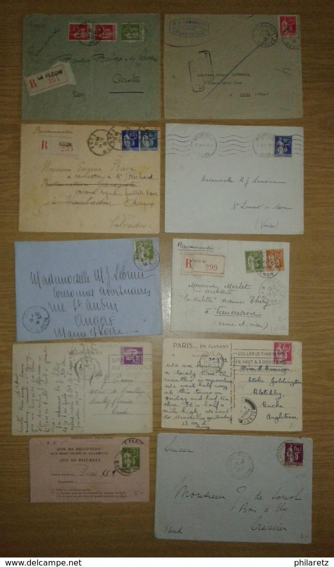 Lot De Lettres Et Cartes Affranchies Type PAIX Uniquement - Postmark Collection (Covers)