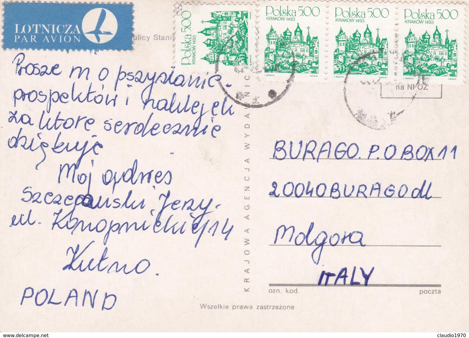 CARTOLINA - POSTCARD - POLONIA  -  VIAGGIATA PER ITALY ( ITALIA) - Polonia