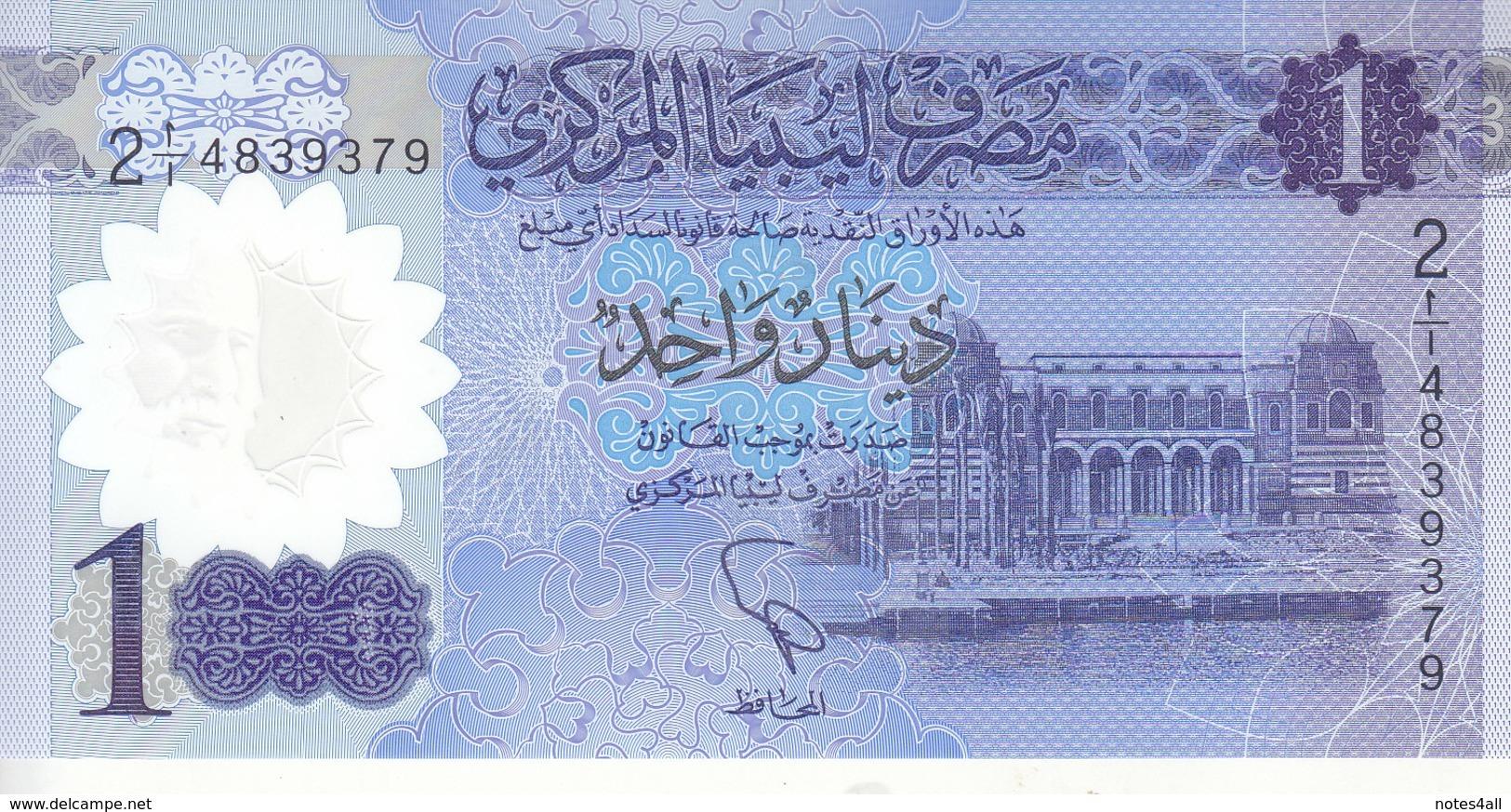 LIBYA 1 DINAR 2019 P-new FIRST START PREFIX (1) .. POLYMER UNC */* - Libya