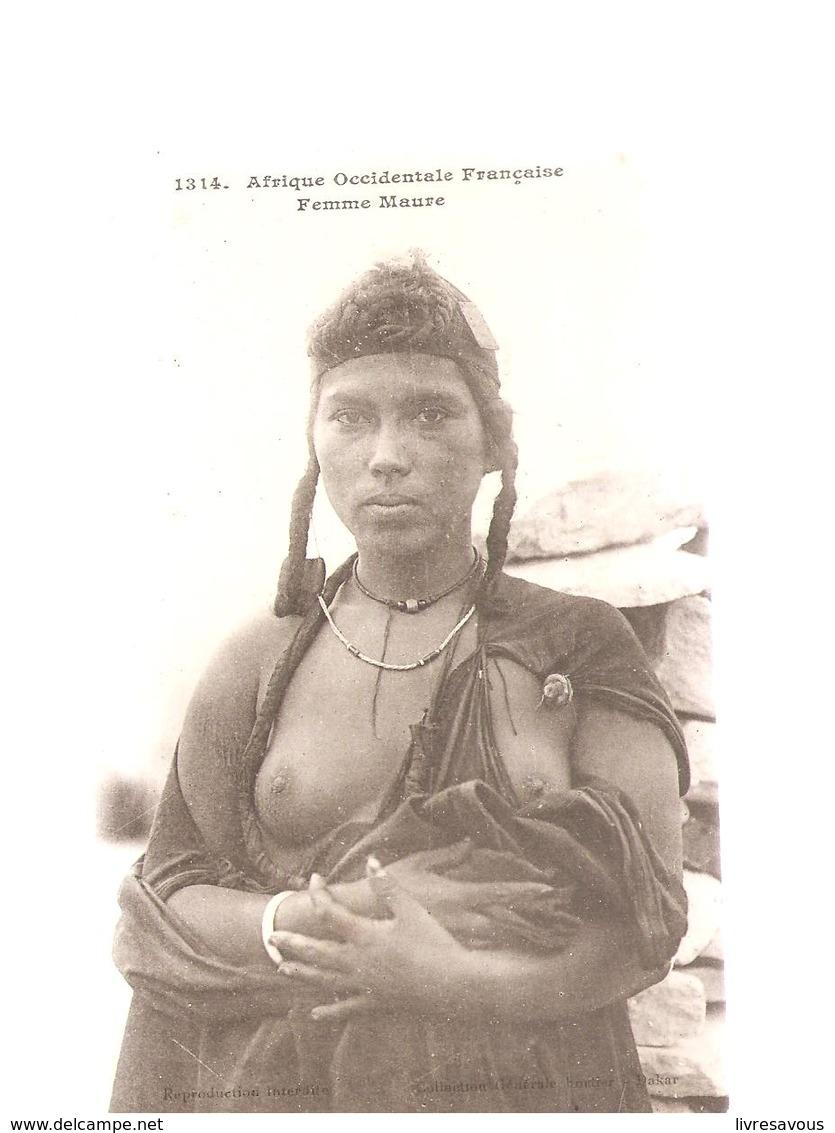 Scènes Et Types Afrique Occidentale Française Femme Maure Seins Nus N°1314 Editeur Deley - Andere