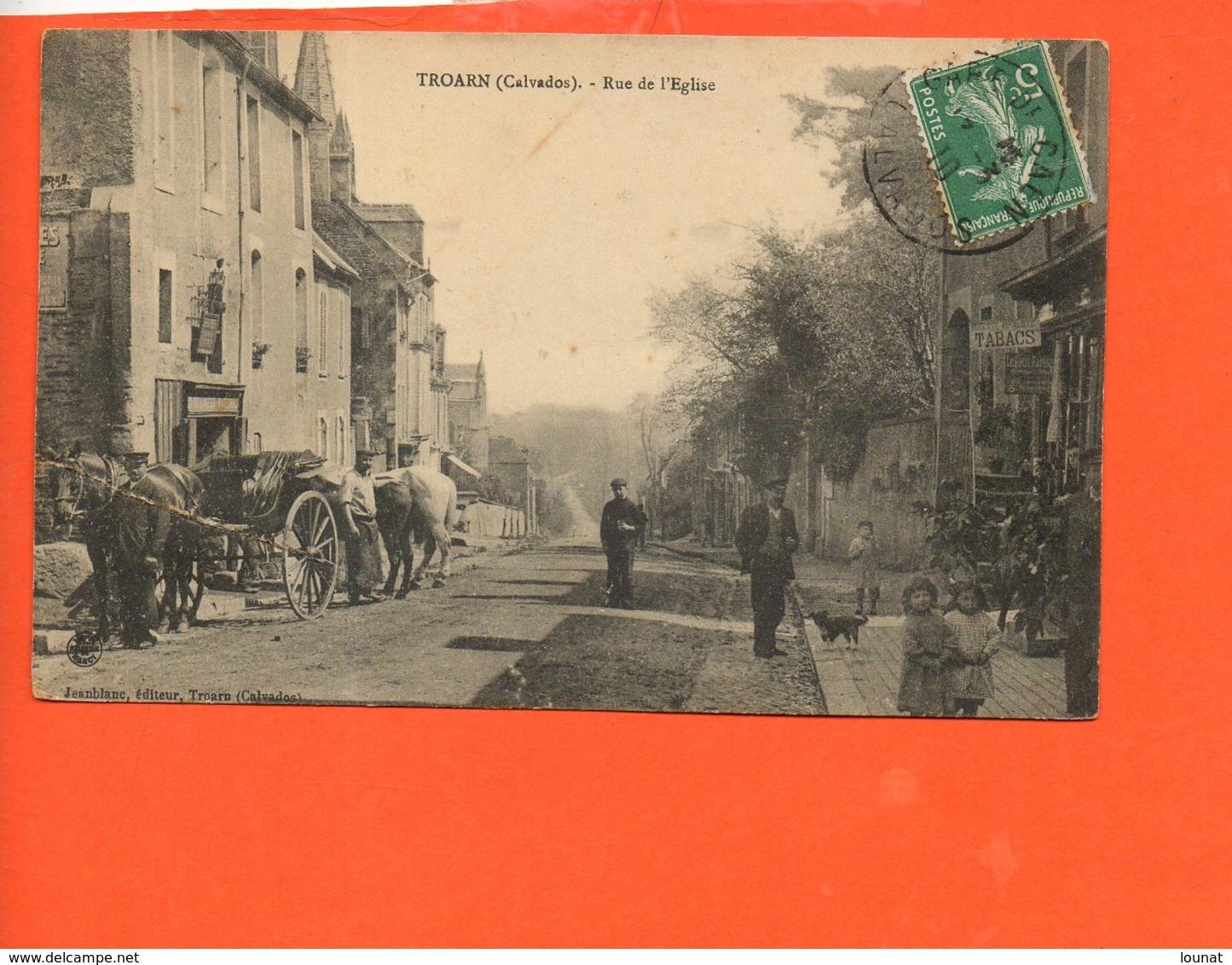 14 TROARN : Rue De L'église (pli Coin Gauche) - Autres Communes